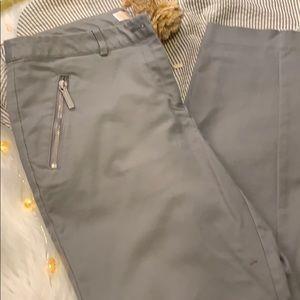 MK Gray Zipper Accent Skinny